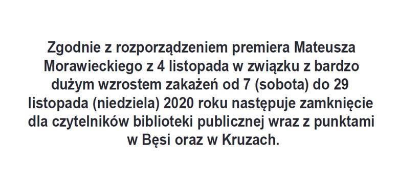 Informacja Biblioteki Publicznej w Lutrach