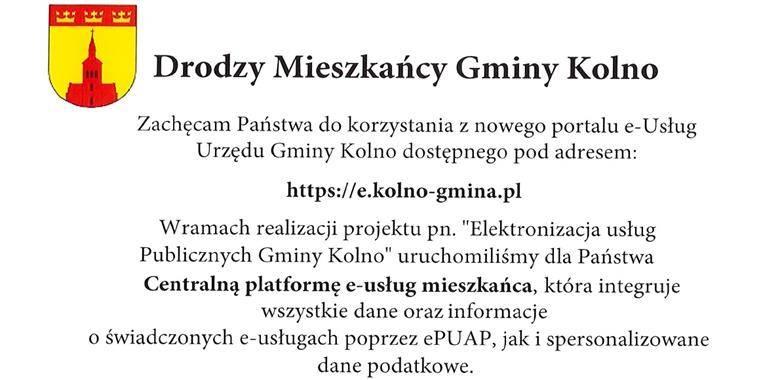 Nowy portal e-Usług Urzędu Gminy Kolno