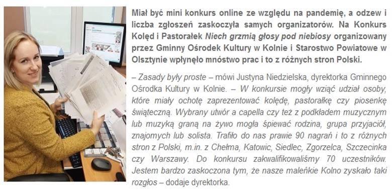 Polska zaśpiewała kolędy dla Kolna