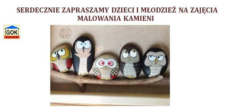 Gminny Ośrodek Kultury w Kolnie zaprasza dzieci i młodzież na zajęcia malowania kamieni