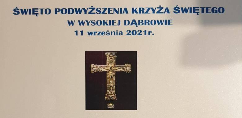 Podziękowania - Święto Podwyższenia Krzyża w Wysokiej Dąbrowie